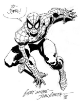 Romita Sr. Spider-Man sketch Comic Art