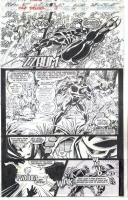 Night Thrasher 18 pg 19 - black panther Comic Art