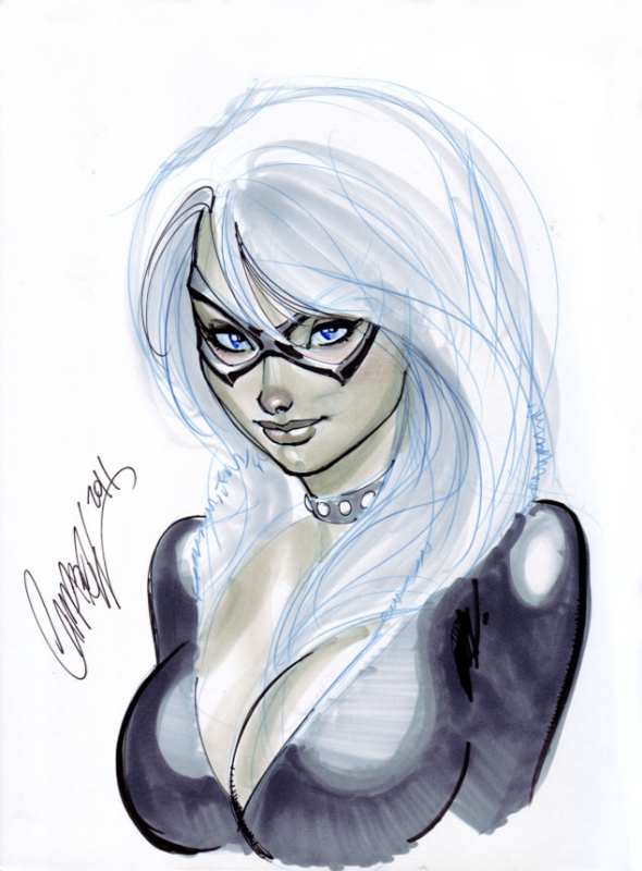 Black Cat con sketch by J. Scott Campbell, in Chris Polubinski's ...
