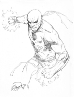 Iron Fist con sketch by Billy Tan Comic Art