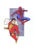 Captain Marvel and Spider - Man by Ibrahim Moustafa Comic Art