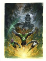 GREEN LANTERN 'TRAITOR' TPB COVER Comic Art