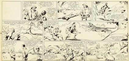 Alex Raymond - Jungle Jim. Historic fifth-ever Sunday comic strip original art:  dated 1934, Feb. 4th Comic Art