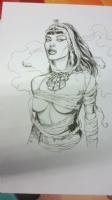 Hot Mummy by Gary Frank Comic Art