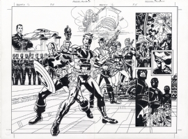 EARTH-X 1/2 NICK FURY: S.H.I.E.L.D. CAPT. AMERICA REINHOLD DPS, Comic Art