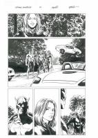 Steve Epting - Captain America #41, page 11 - Bucky, Black Widow, Falcon Comic Art