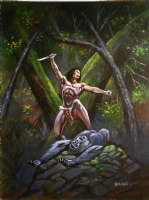 Tarzan  Triumphant  Comic Art