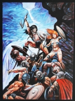 Conan and Red Sonja Comic Art