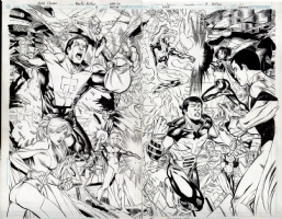 LSH 8 pg 26 & 27 redone Comic Art