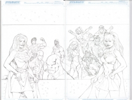 Supergirl & the Legion commission Comic Art