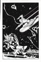 Silver Surfer 4 cover Re Creation by Buscema Comic Art