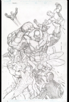 Juggernaut vs the Mighty Crusaders Comic Art