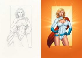 Powergirl colors by THOMAS MASON - Pro Colorist For Hire Comic Art