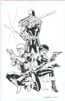 DC Angels - Ravager, Vigilante and Black Thorn by Steve Erwin Comic Art