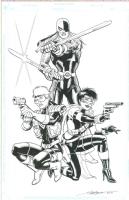 DC Angels - Ravager, Vigilante and Black Thorn by Steve Erwin Comic Art