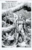 Red Sonja/Jungle Girl Swords of Sorrow issue 1 Comic Art