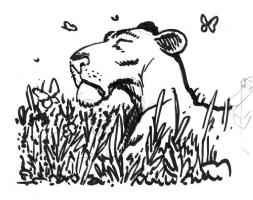 Leonessa e Farfalle Comic Art