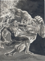 JK Woodward Invincible vs Conquest Comic Art