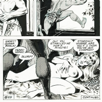 1972 - Sally Forth / Doortje Stoot + (s)Tarzan (Page - American BV)  Comic Art