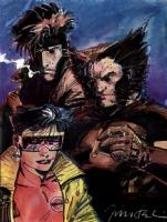 Jim Lee - Jubilee, Gambit, Wolverine Comic Art