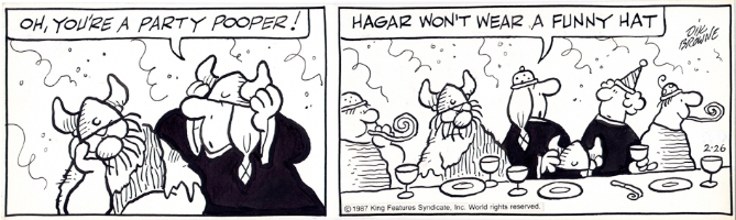 Hagar the Horrible - Browne Dik - 1987 Comic Art