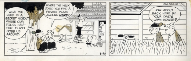Hi and Lois - Dik Browne - 1966 Comic Art