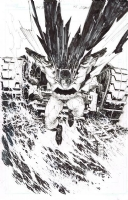 -FOR SALE - DARK KNIGHT III: THE MASTER RACE #1 Silvestri Original Cover art  Comic Art