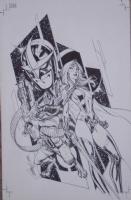 Nova 4 featuring Rocket Raccoon and Gamora Comic Art