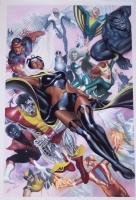 Uncanny X-Men 28 for Marvel�s 75th Anniversary featuring Storm, Colossus, Nigthcrawler, Wolverine, Thuderbird, Sunfire, Banshee, Polaris, Havok, Angel, Iceman, Beast, Marvel Girl, Cyclops, and Professor X Comic Art