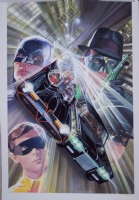 Batman '66 meets the Green Hornet 5 - with Robin, Kato, The Batmobile and The Black Beauty  Comic Art