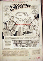 Curt Swan - Superman Splash Comic Art