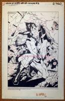 LSH Legion of Super Heroes Timberwolf Splash - Giffen / Gordon Comic Art