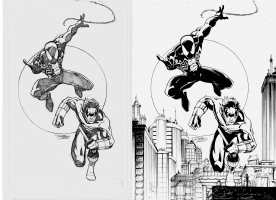 Spiderman-Nightwing by Ron Lim & Atula Siriwardane Comic Art