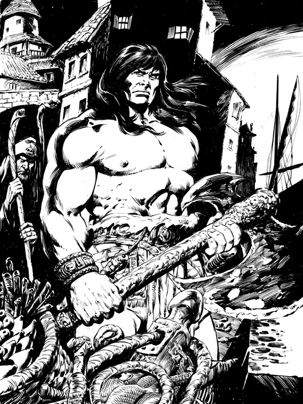 Conan in Messantia -Inked Comic Art