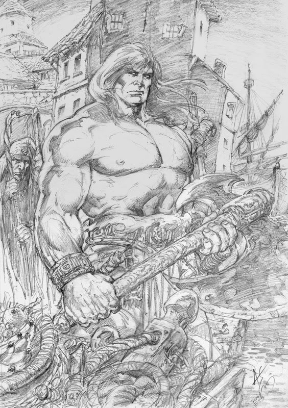 Conan in Messantia-Pencil Comic Art