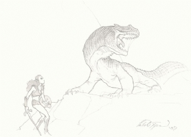 Lizard Slayer - Mitch Byrd, Comic Art