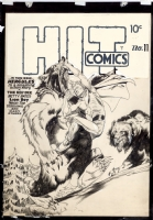 Hit Comics #11 cover by Lou Fine Comic Art
