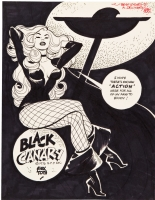 Black Canary by Alex Toth Comic Art