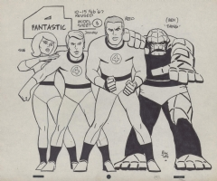 Fantastic Four Model sheet by Toth Comic Art