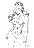 Star Sapphire Comic Art