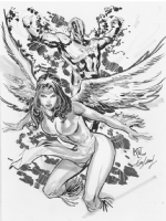 Dawnstar & Wildfire Comic Art