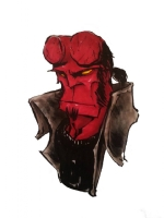 hellboy - Matt Fletcher Comic Art