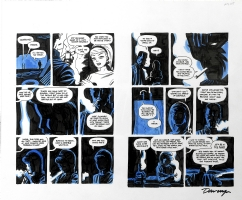 Parker: The Score, pg. 124 & 125 Comic Art