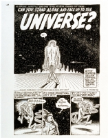 Can you stand alone and face up to the universe, pg. 1 Comic Art