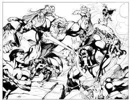 THANOS VS ALPHA FLIGHT Comic Art