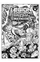 Legion of Superheroes Homage to Defenders 114 ( Infinite Timelines : A Metallic Messiah - Chapter 6 )              Comic Art