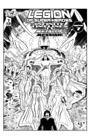 Legion of Superheroes Homage to Avengers 371 ( Infinite Timelines : The Metallic Messiah -  Chapter  7 ) Comic Art