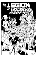 Legion of Superheroes Homage to Infinity Inc. Issue 4 (Infinite Timelines Chapter 2 ) Comic Art