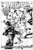 Legion of Superheroes Homage to Thunderbolts Issue 100 ( Infinite Timelines : Game Of Shadows : Chapter 8 :  Cross x Check ) Comic Art