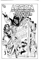 Legion of Superheroes Homage to Teen Titans 16 ( Infinite Timelines Chaper 1)  Comic Art
